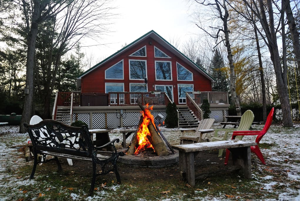 Lake front cottage chalet in affitto a washago ontario for Piani di casa cottage gotico