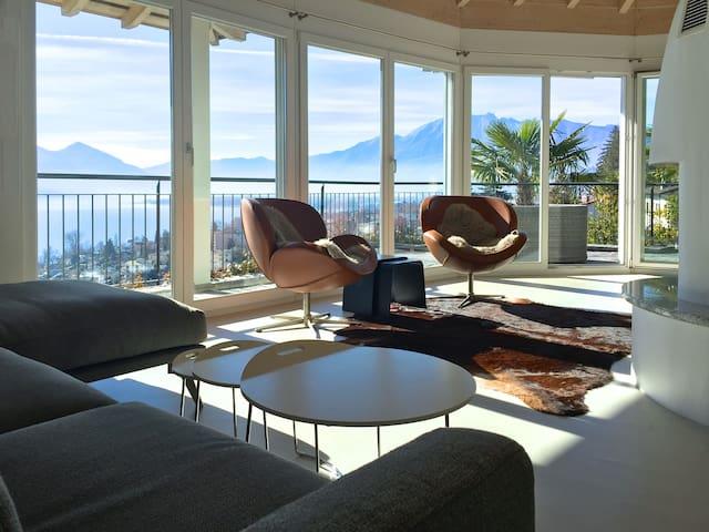 Villa Bella Vista; luxury in Minusio Lago Maggiore - Minusio
