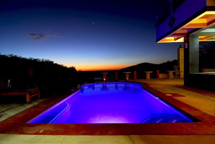 Pool at sunset..