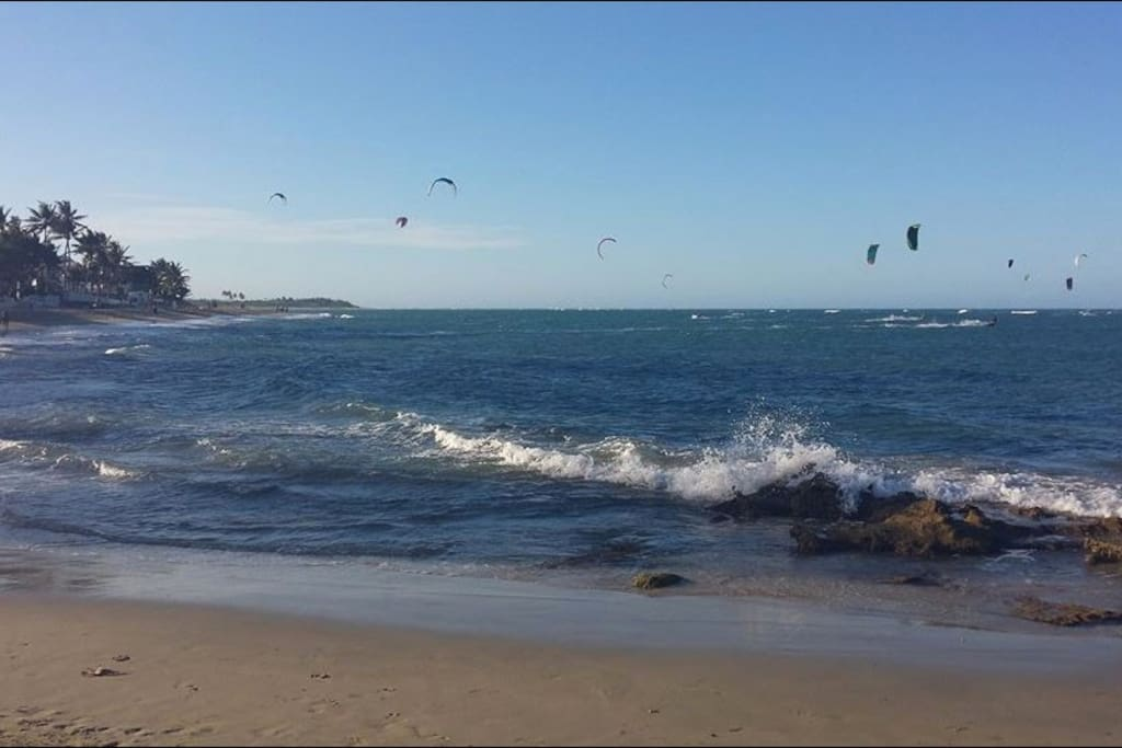 Kite Beach on a windy day