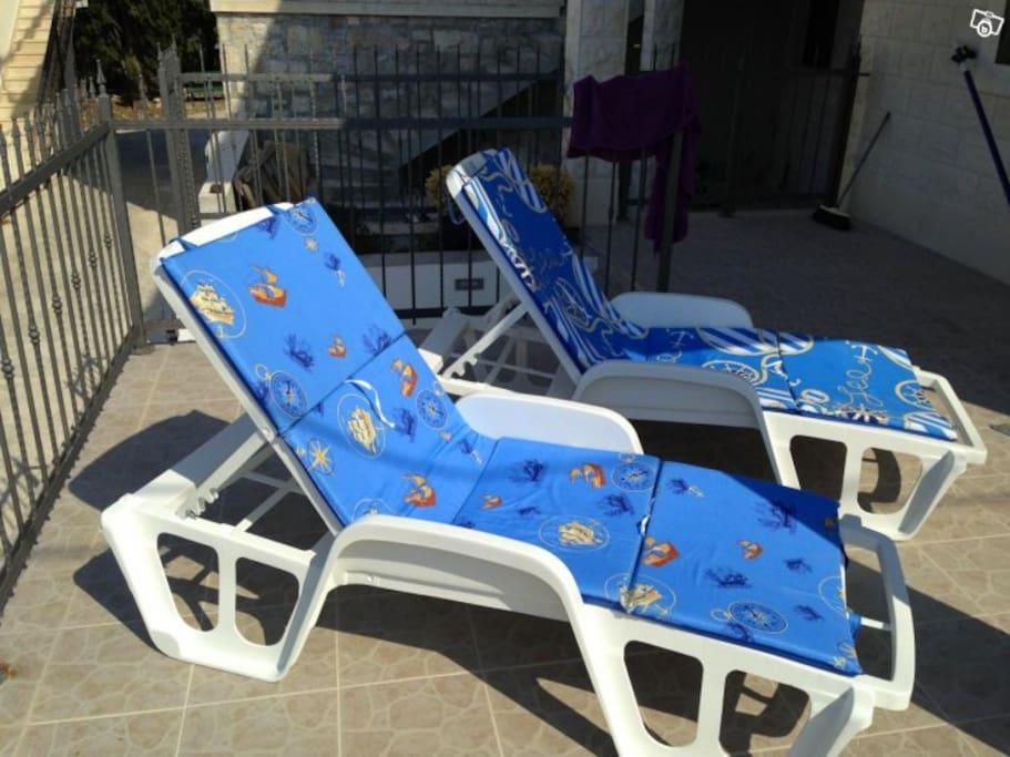 Enjoy poolside