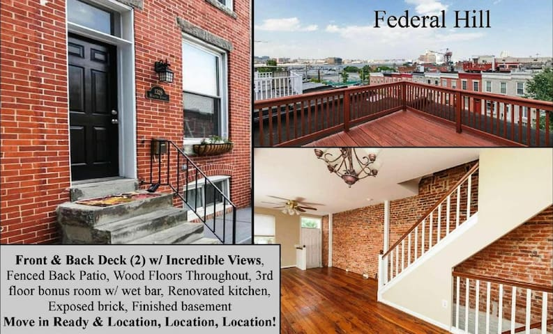 Historic Row Home in Federal Hill - Baltimore - Casa
