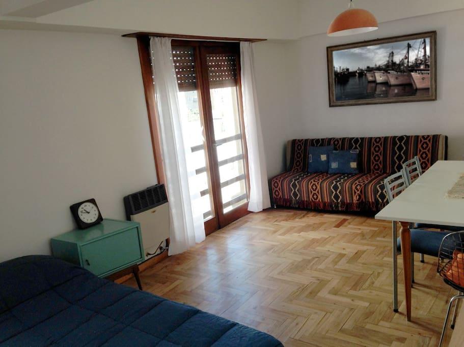 Cozy wooden floors.