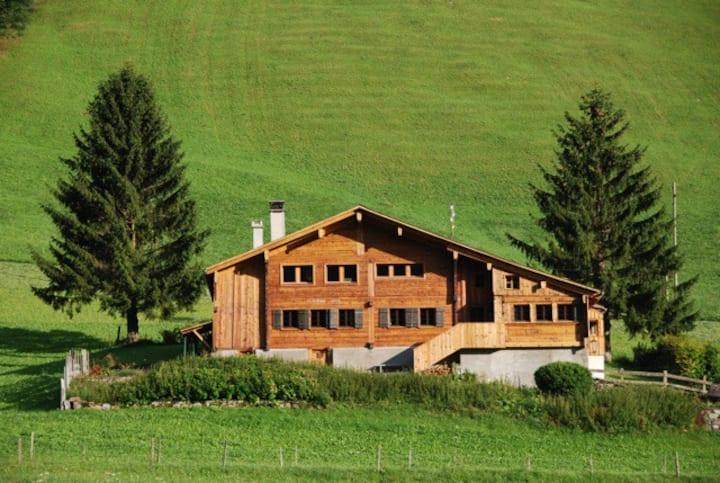 Old beautiful swiss alp chalet