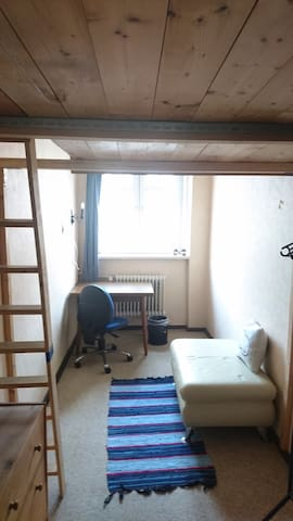 comfy small room with loft-bed