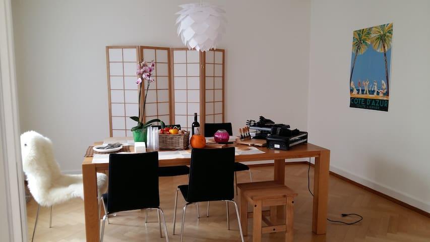 Room in beautiful flat with lake view terrace - Zollikon - Departamento