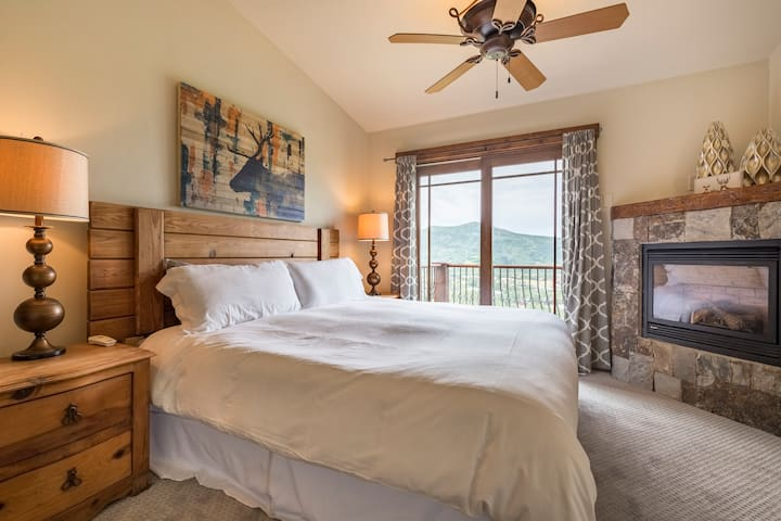 Master Bedroom #1 with private sunset deck.