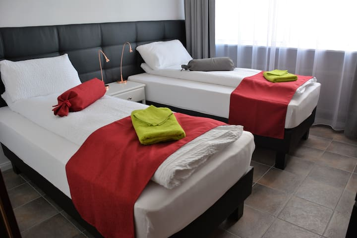 Two single beds or one double bed/ 10.min from DOWNTOWN REYKJAVÍK Iceland