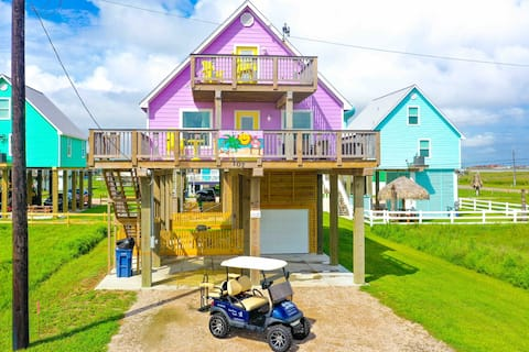 Surfside Paradise#3-2nd row,amazing views,golfcart