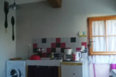 Studio avec coin cuisine et salle d'eau