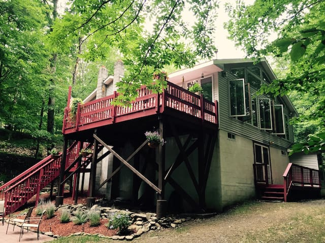 Beautiful Catskill Mountain Treehouse - West Shokan - Hus