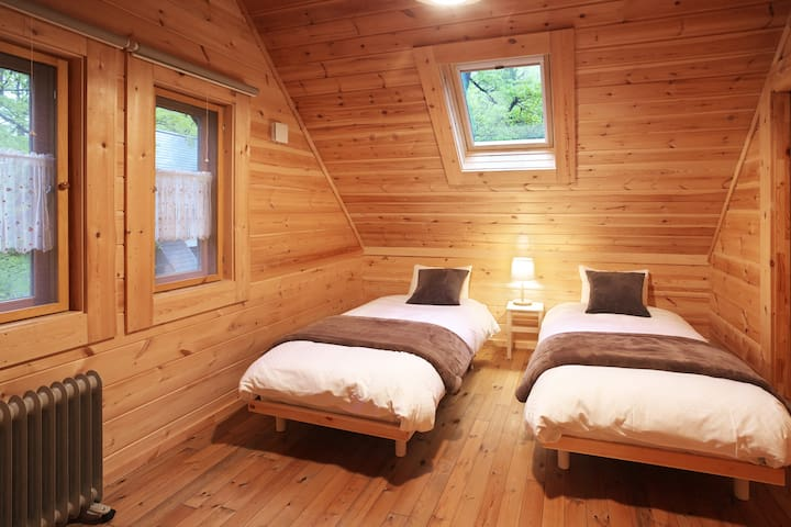 Bed room for 2 single beds