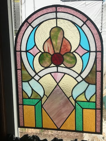 Stained Glass window in Entry.