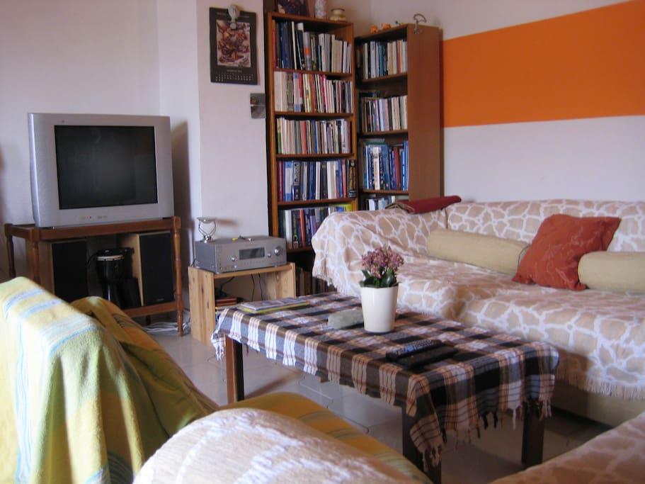 Living room..TV, HiFi music system