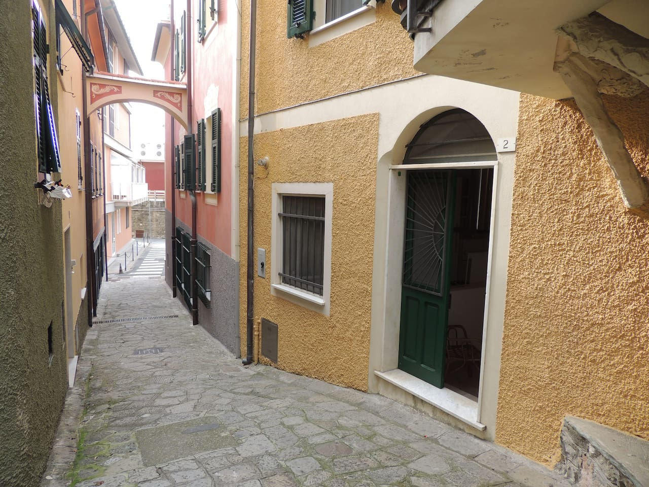 5 minutes walk from the sea in a very quiet and picturesque corner
