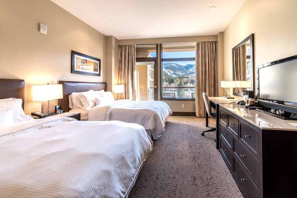 This is your exact room.   The view is your exact spectacular mountain view south to Beaver Creek Mountain and the pool