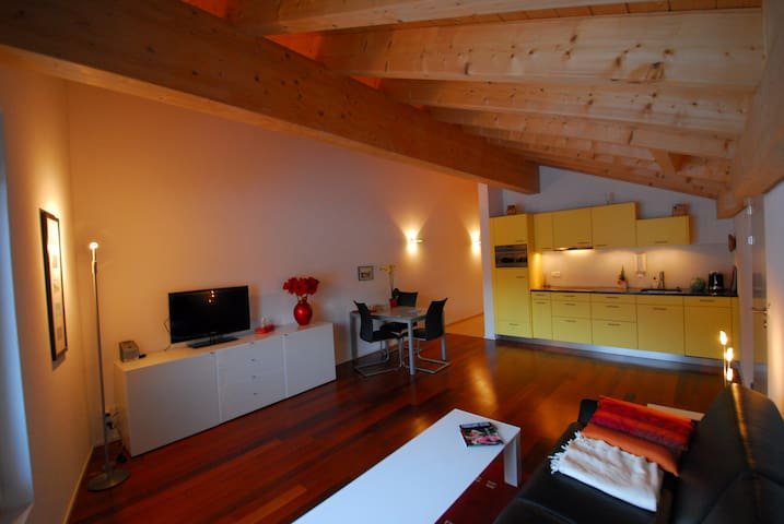 Modern one room studio with a view - Klosters-Serneus - Apartamento