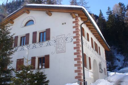 Romantic Swiss Chalet Penthouse - Mulegns - Alpehytte