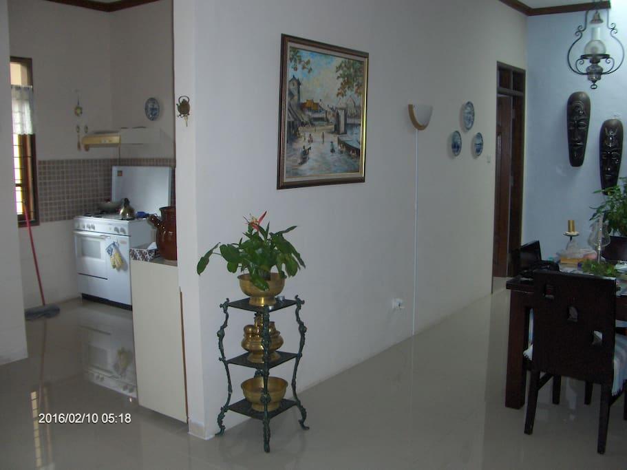 Hoek zitkamer/keuken