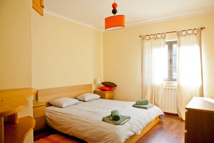 Orange Double Bedroom (downstairs)