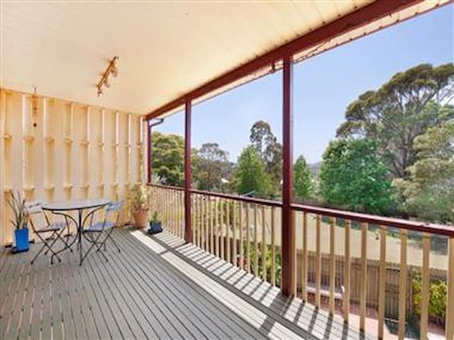 Balcony perfect for BBQs, with views over park out to the ocean