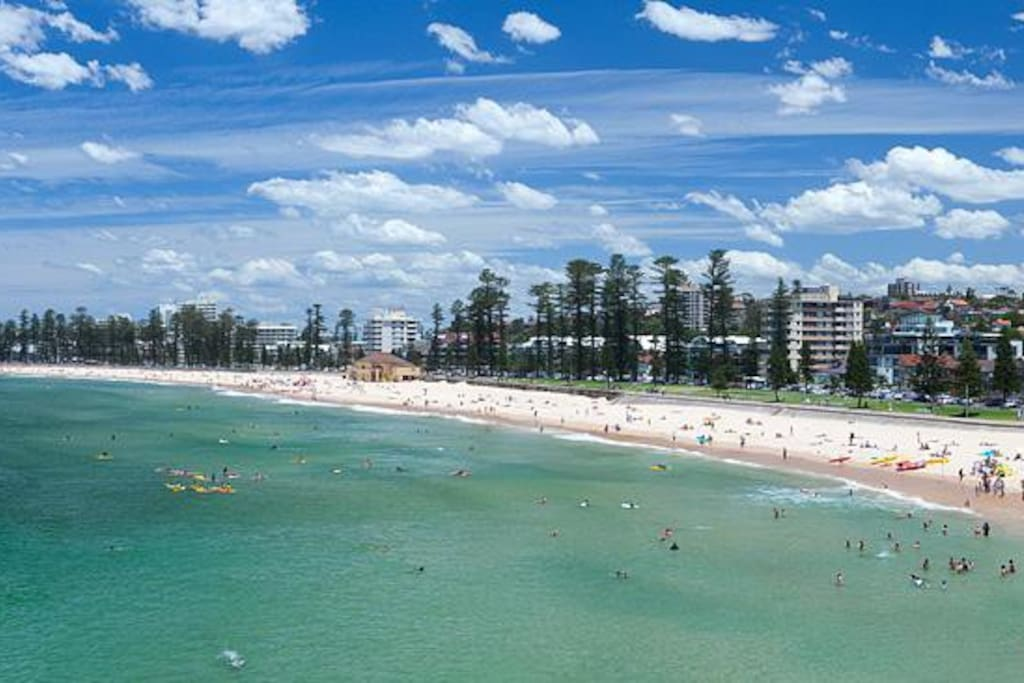 Not far from fabulous Manly Beach