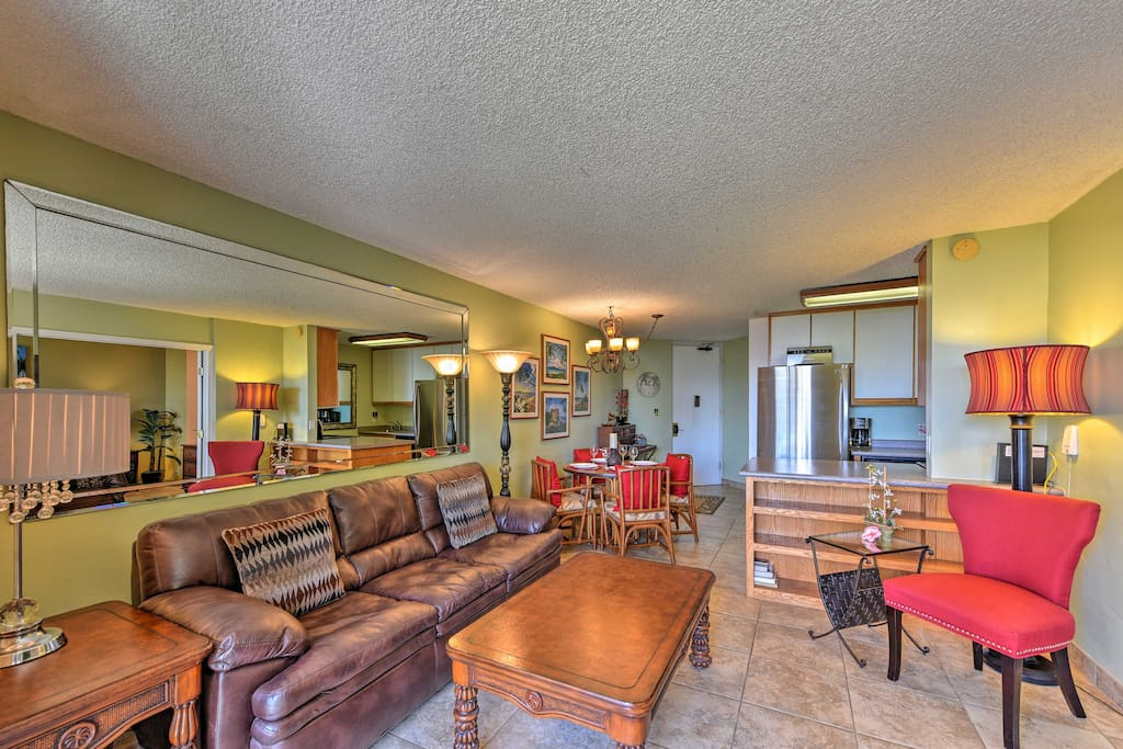 Up to 4 guests can make themselves at home in the 2-bedroom, 2-bath condo.
