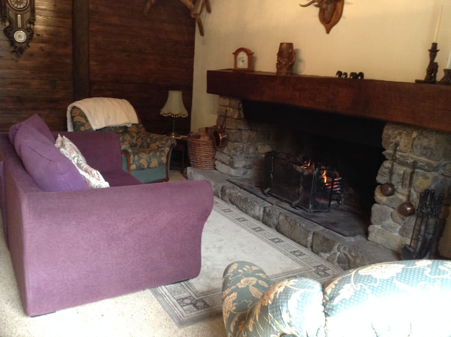 Cosy lounge, with beautiful large open fire.