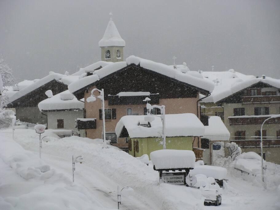 Mavignola dopo nevicata
