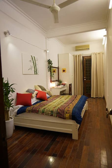 There are 2 big bedrooms, includes private bathroom, desk, chair, closet
