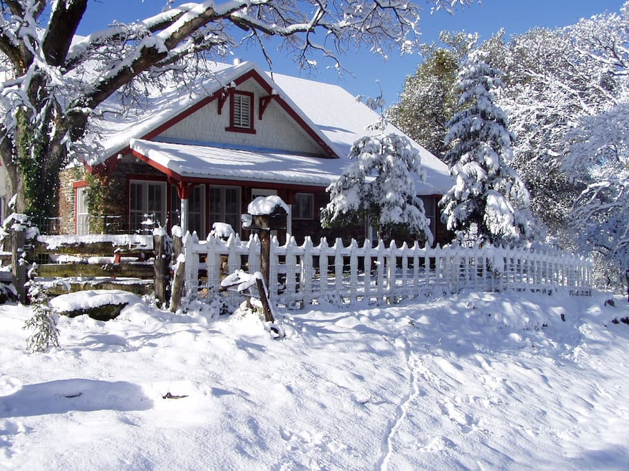 Ranch house in the winter time