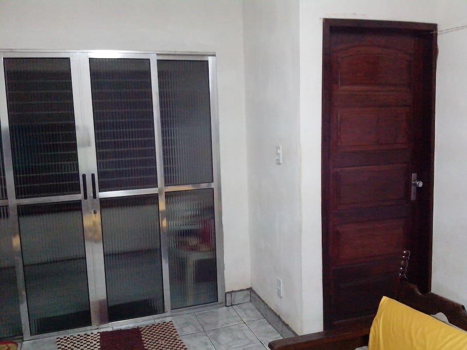 Terraço e sala