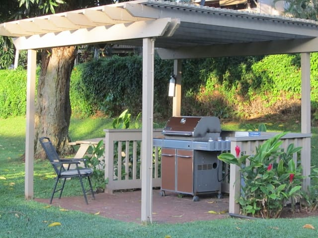 One of the three barbeque areas in the complex.