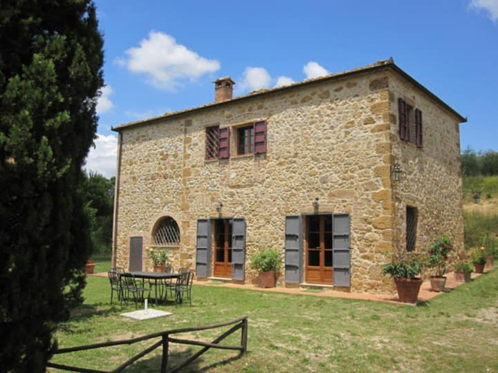 Country house Banditello, view of Montepulciano