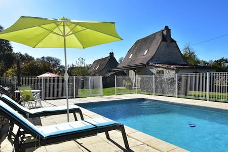 Authentic holiday home with private swimming pool and stunning view in France