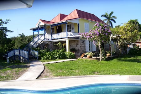 Traditional Secluded Seaview Hilltop Plantation - St. Ann's Ba - Dom