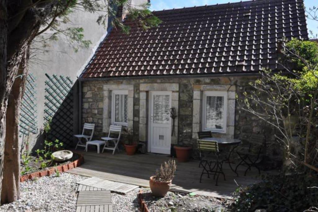 Maison de p cheur 35m wissant houses for rent in for Maison container nord pas de calais