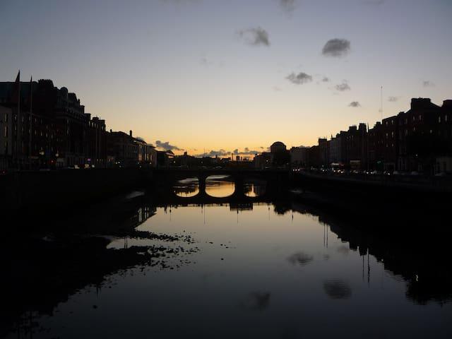 sunset capel bridge