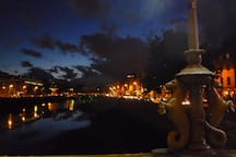 capel bridge night