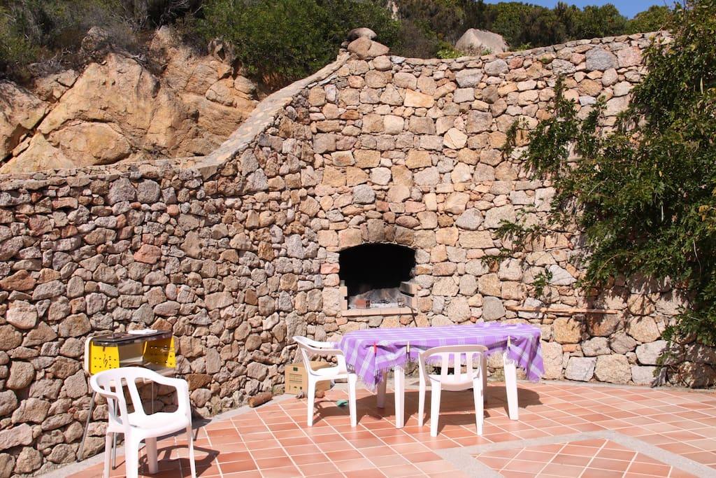 Stone barbecue.