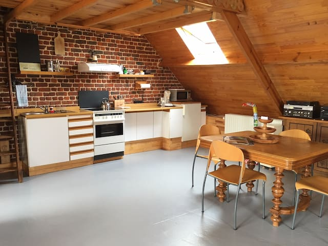 Charming attic in Brussels
