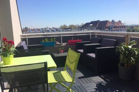F2 lumineux, wifi parking terrasse - Lingolsheim - Wohnung
