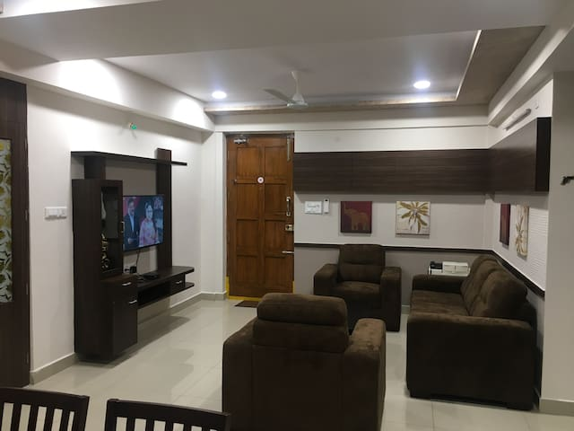 Athidi Homes-Beautiful 3 BHK Apt near MVP Signal