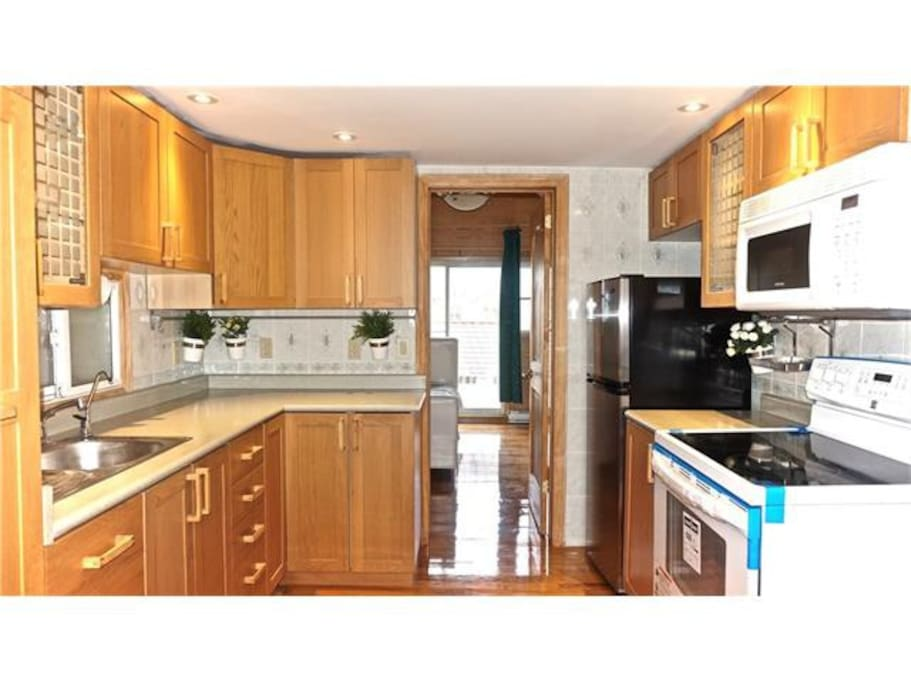 Make yourself a gourmet meal in the fully equipped kitchen with all new appliances