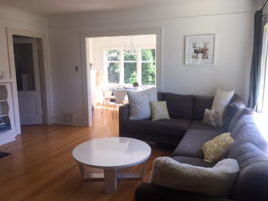 Main living room and dining room area