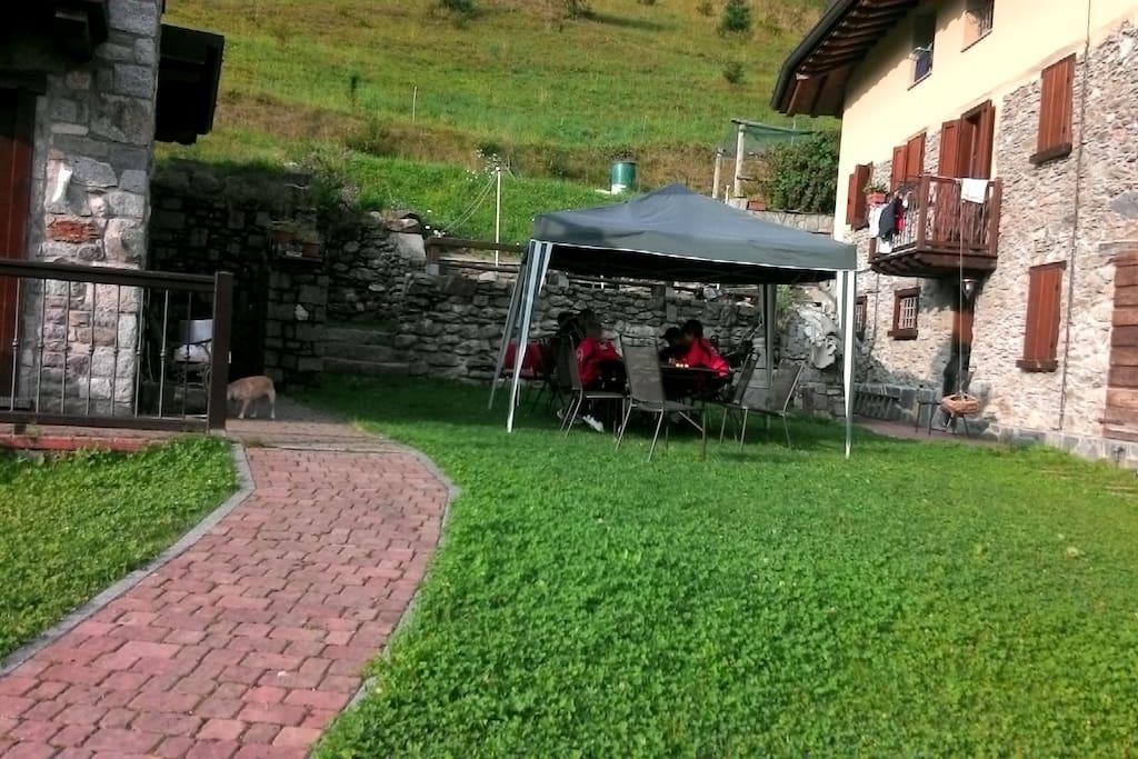 area giardino/griglieria