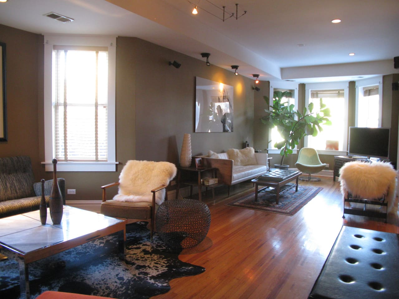 View of the den area and living room.