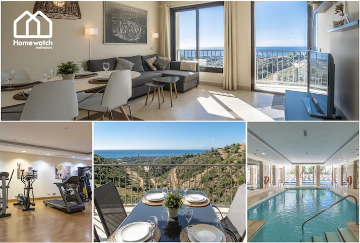 Beautiful modern holiday apartment with amazing sea views with spa and gym
