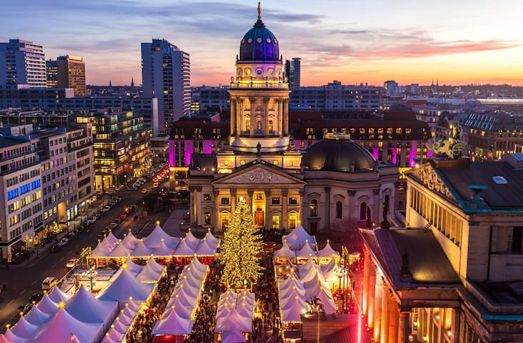 Gendarmenmarkt - is one of the best  Christmas markets in the world.  5 min walk from the apartment.