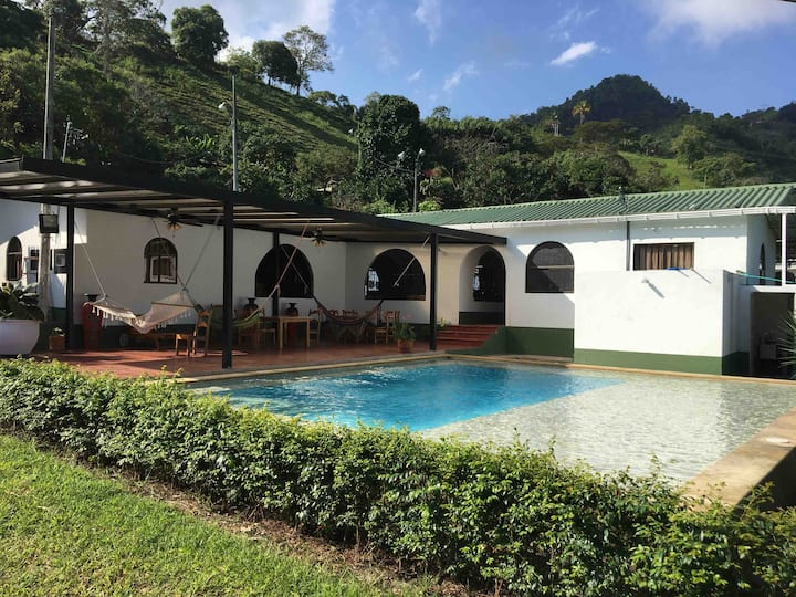 GREAT FARM WITH HORSES AND POOL